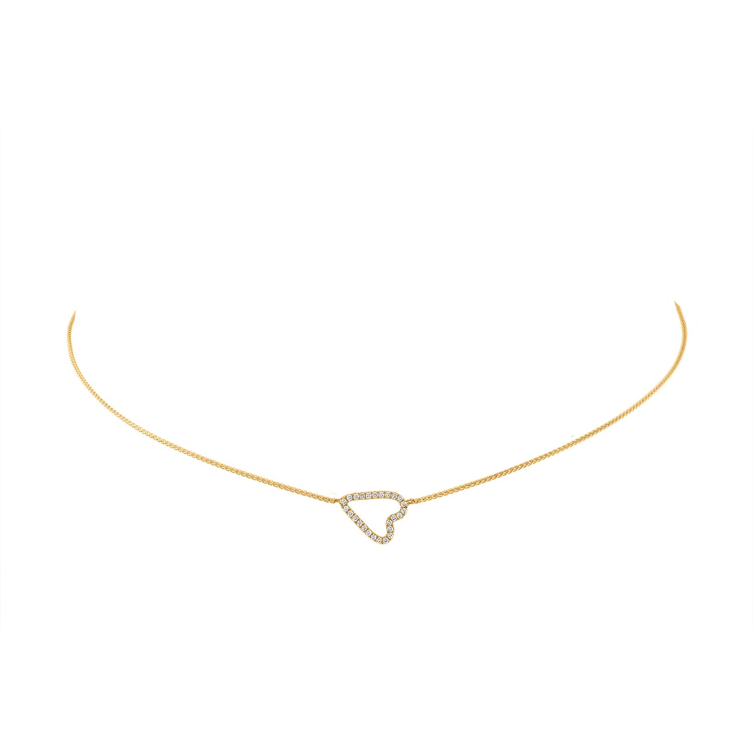 jewellery hammered necklaces handmade reija necklace heart ammered hand jewelry shop eden gold