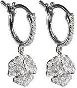 XS Pave Flower Earrings