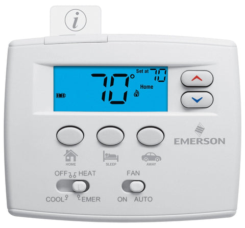 WHITE RODGERS 1F89EZ-0251 Non-Programmable Thermostat, 2 Heat/ 1 Cool - NY Fashion Center Fabrics
