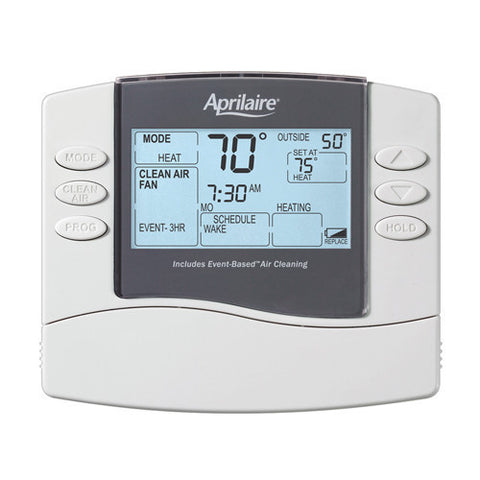 Aprilaire 8476 Universal Programmable Thermostat with Event-Based Air Cleaning National Equipment Parts