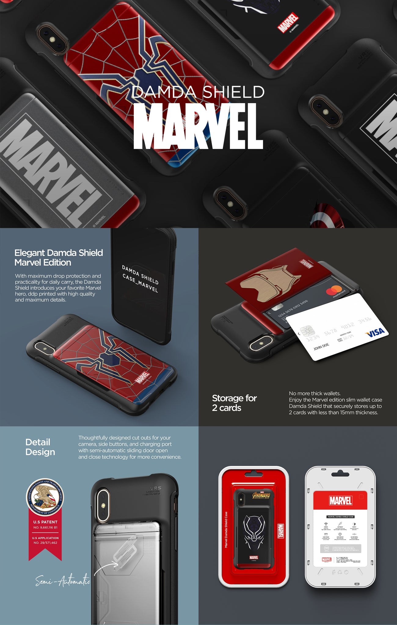 VRS Design | Damda Shield Marvel Series | Marvel Wallet Cases
