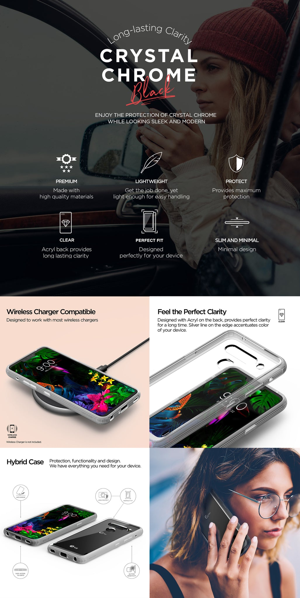 VRS Design | Crystal Chrome Clear for LG G8