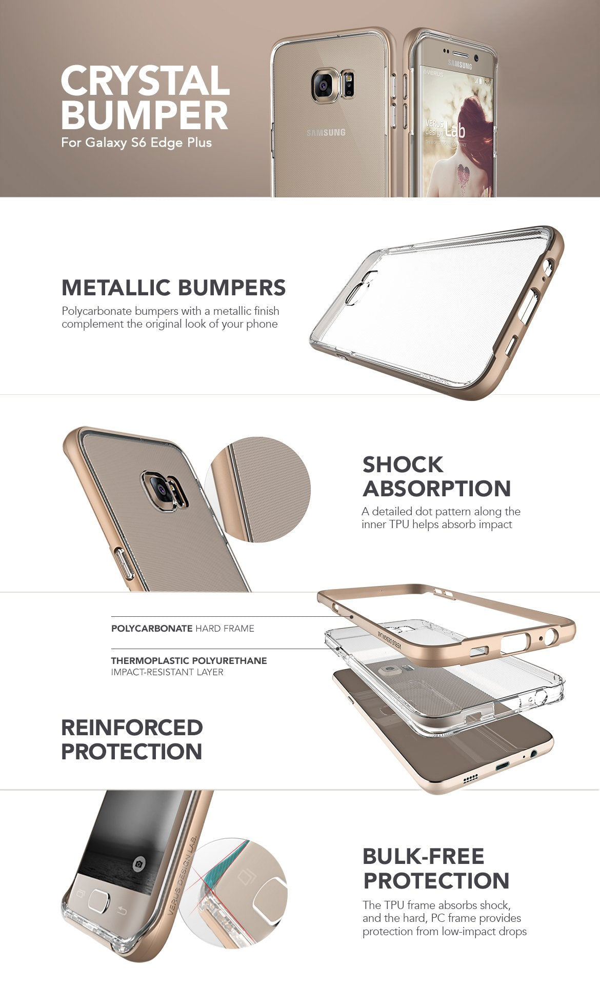 Samsung Galaxy S6 Edge Plus Case Crystal Bumper Series Vrs Design Protection Cases By