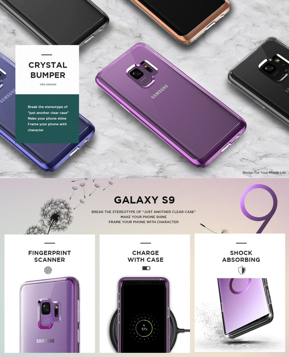 Crystal Bumper Series Clear Protection Vrs Design Shining Case For Xiaomi Redmi 3 Samsung Galaxy S9 Cases By