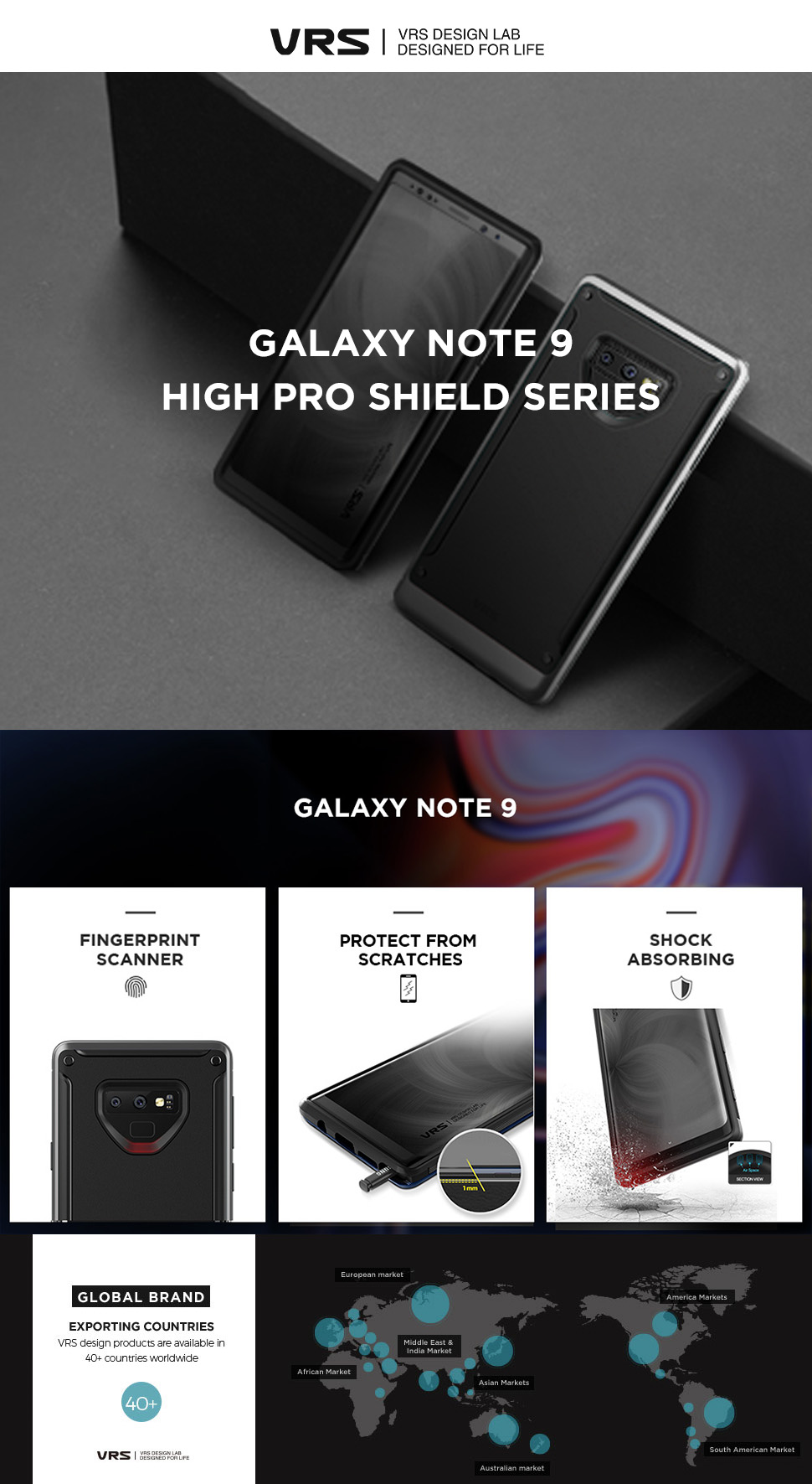 Best Protective Case for Galaxy Note 9 High Pro Shield Series From VRS Design