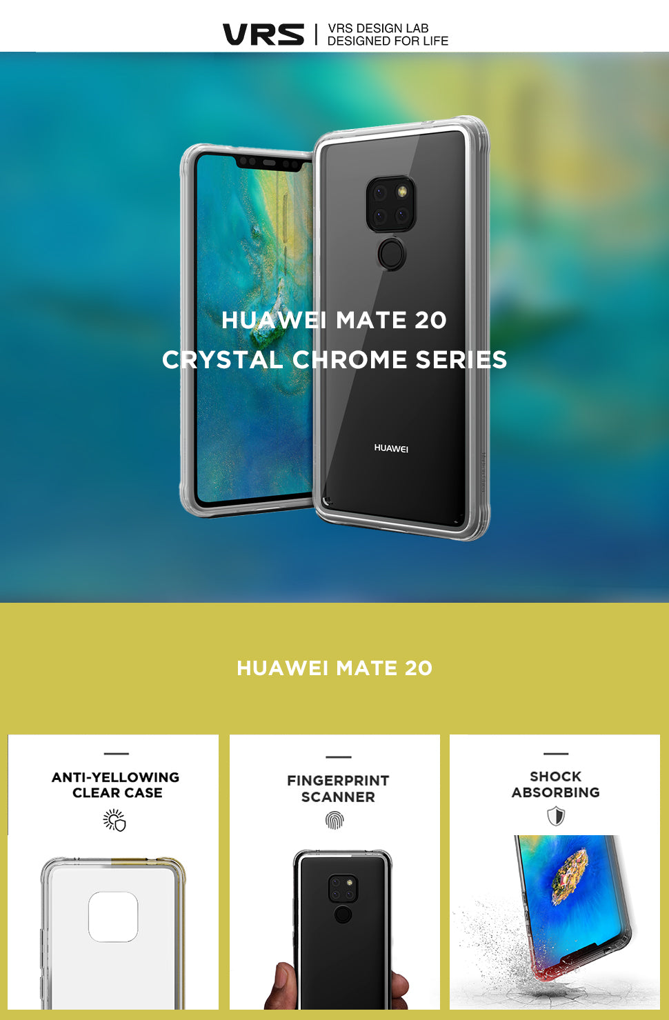 VRS Design | Huawei Mate 20 Crystal Chrome Series | The Best Huawei Case
