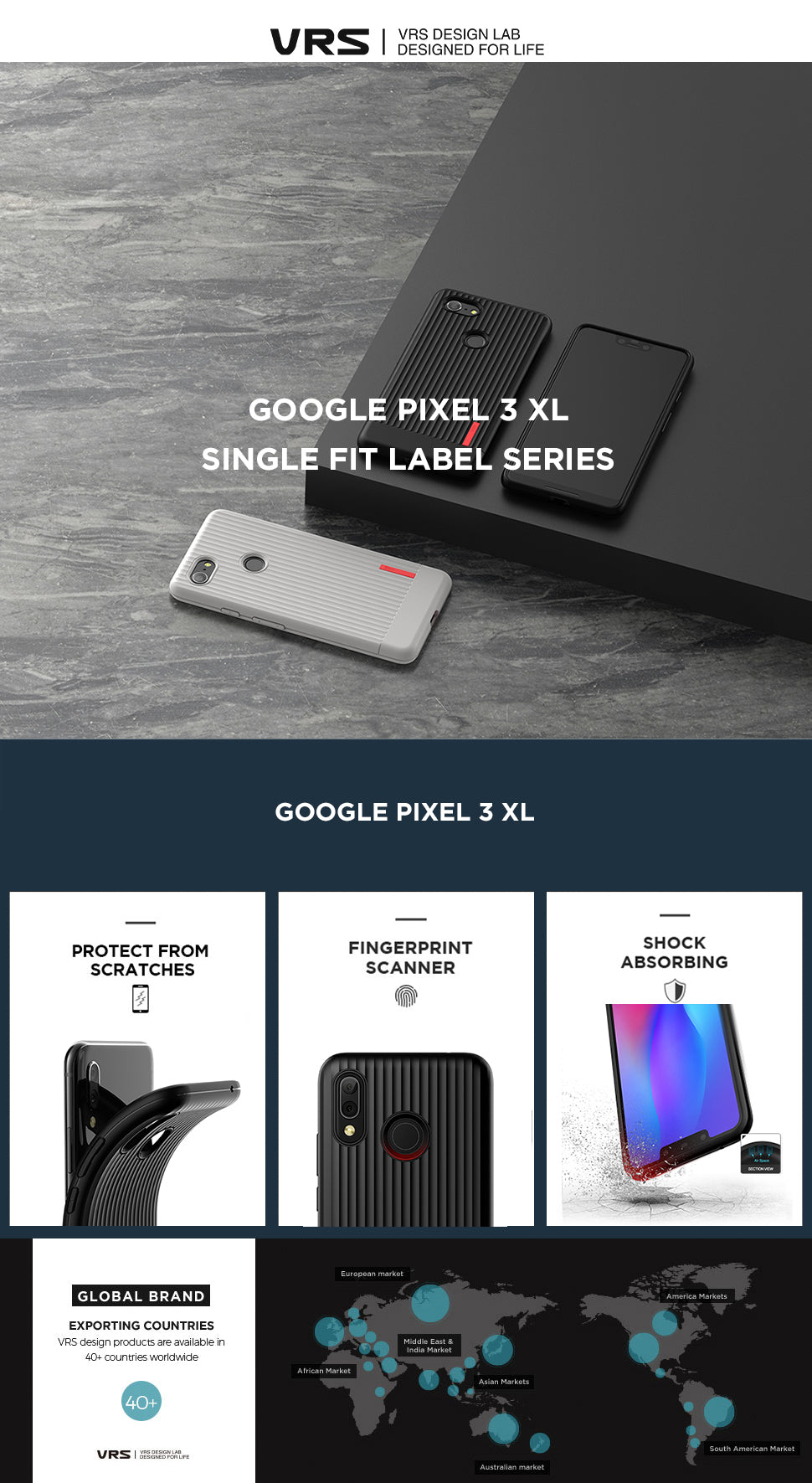 Best Clear Case for Google Pixel  3XL Crystal Chrome Series From VRS Design