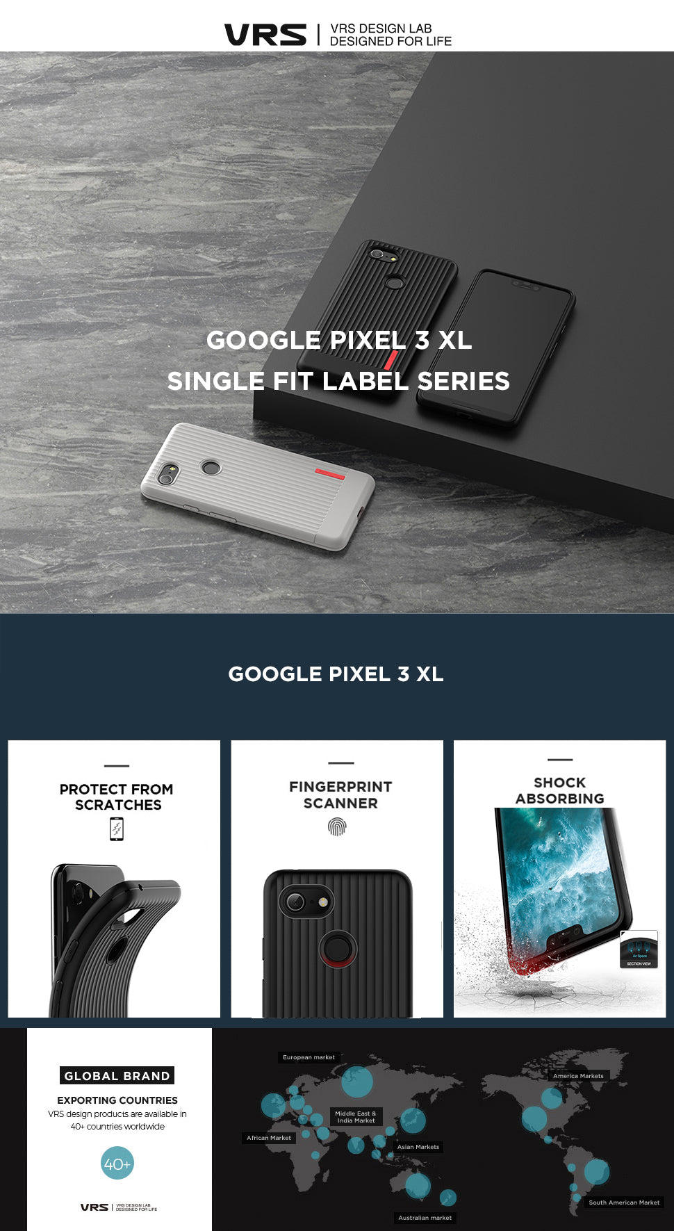 VRS Design | The Best Case for Google Pixel 3XL - Single Fit Label