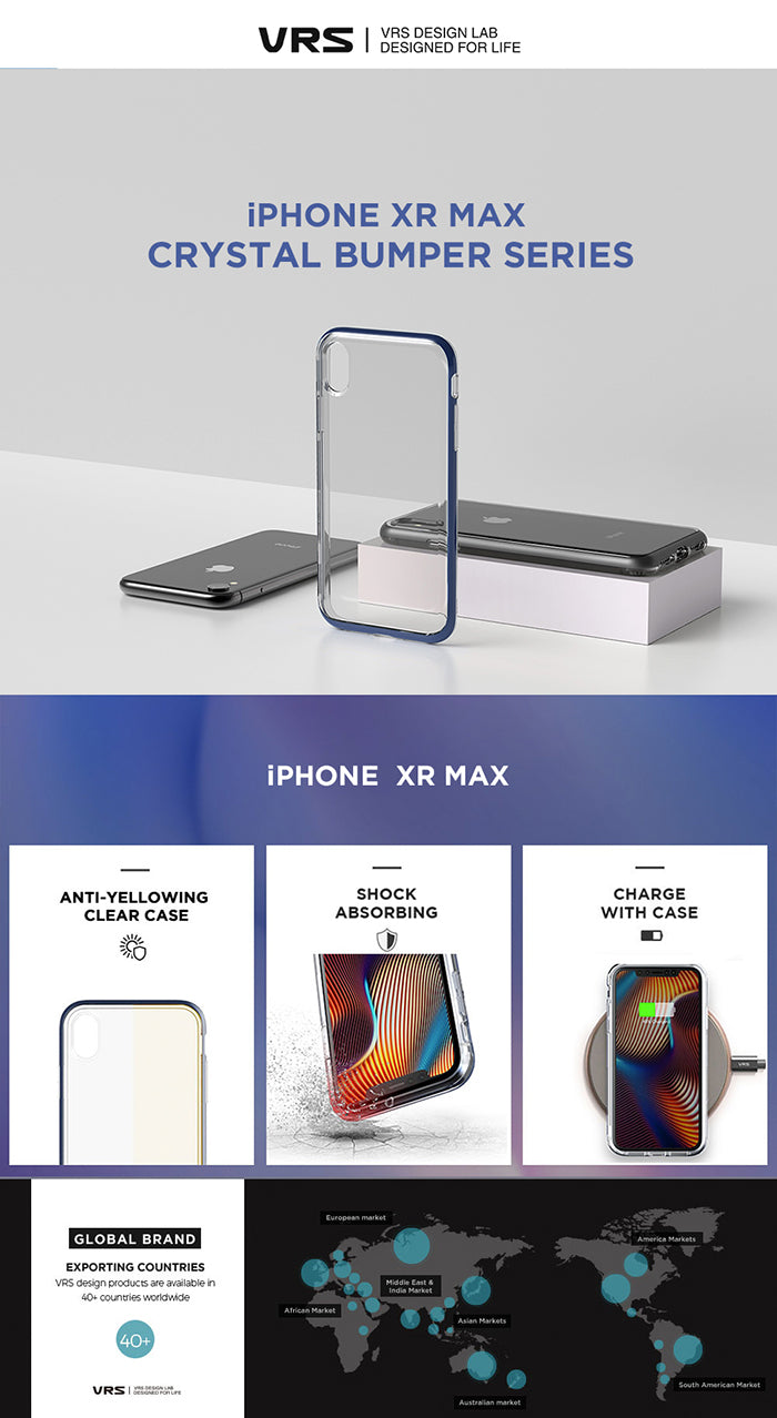 Best Clear Case for iPhone Xs Max Crystal Bumper Series From VRS Design