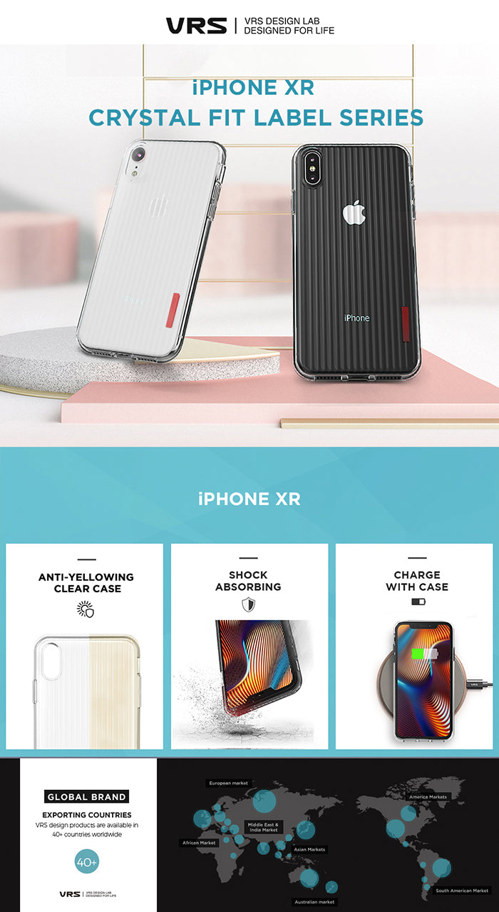 Best Clear Case for iPhone XR Crystal Fit Label Series From VRS Design