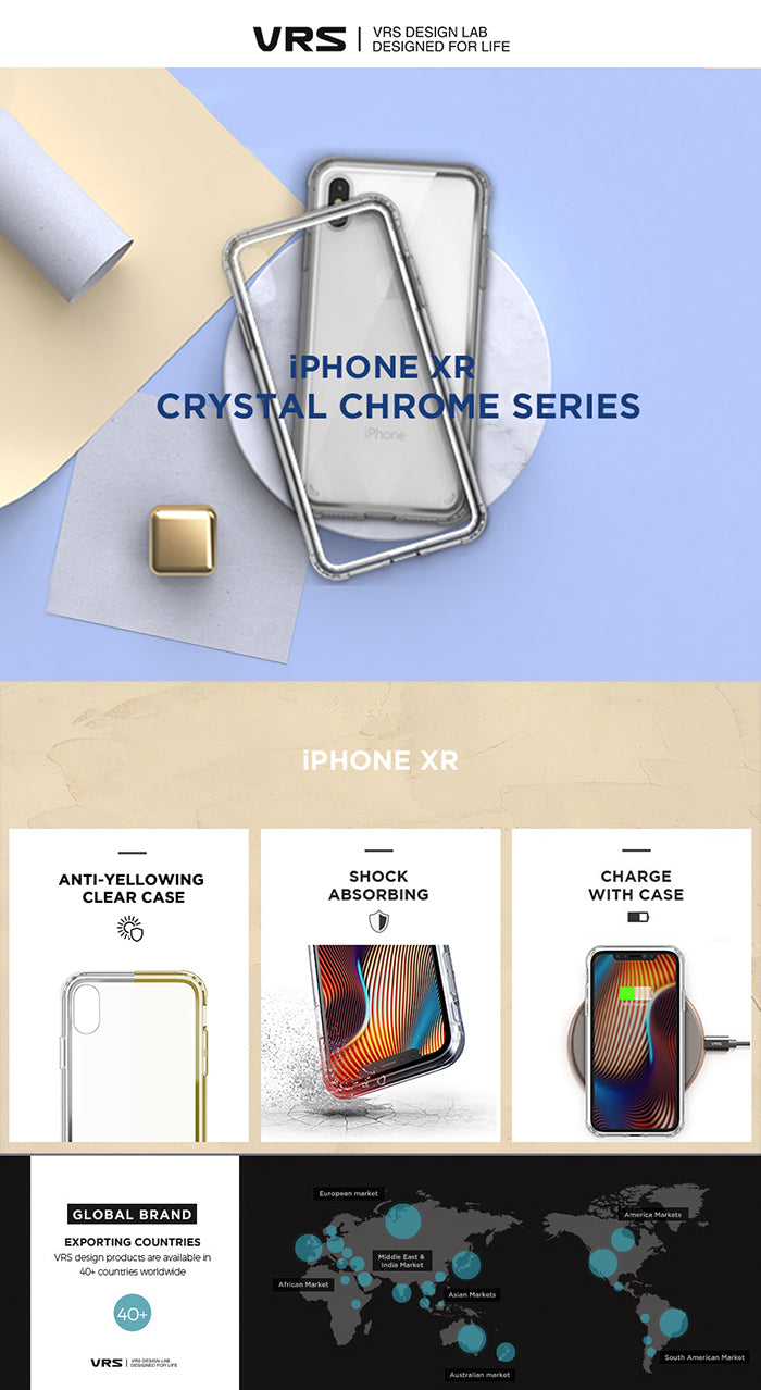 Best Clear Case for iPhone XR Crystal Chrome Series From VRS Design