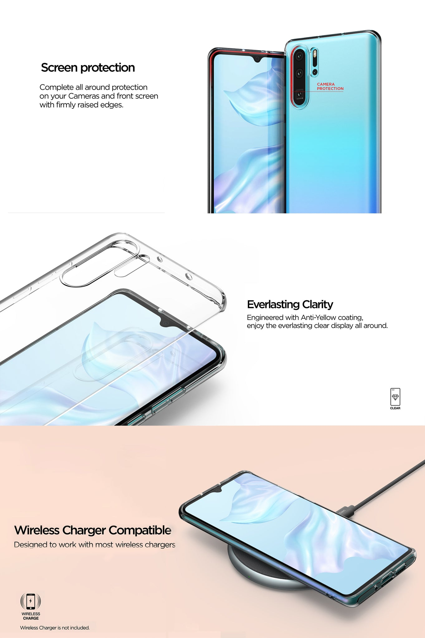VRS Design | The Best Clear Case for Huawei P30 Pro - Crystal Fit Series