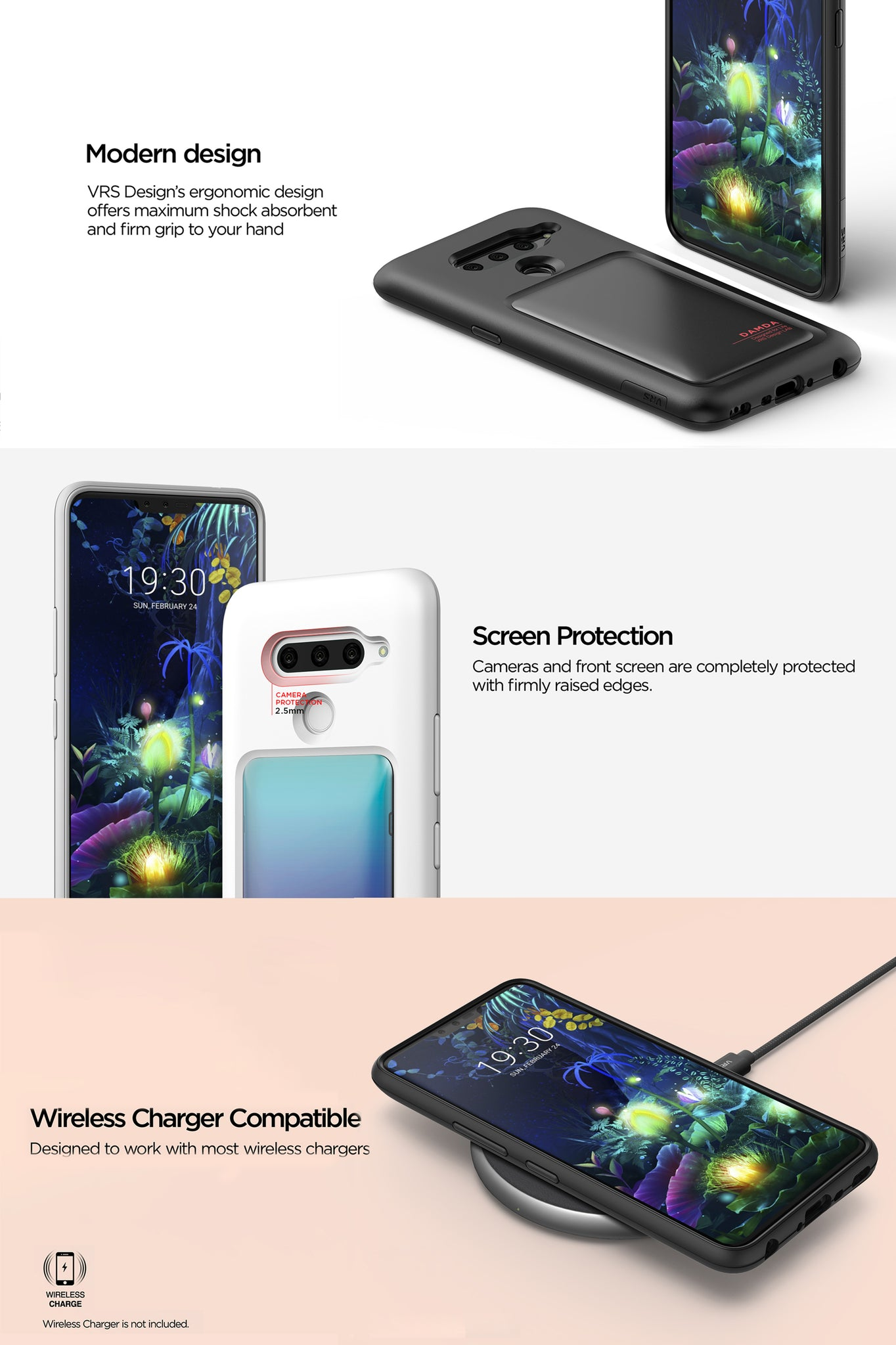 VRS Design | The Best Protection Case for LG V50 - Damda High Pro Shield