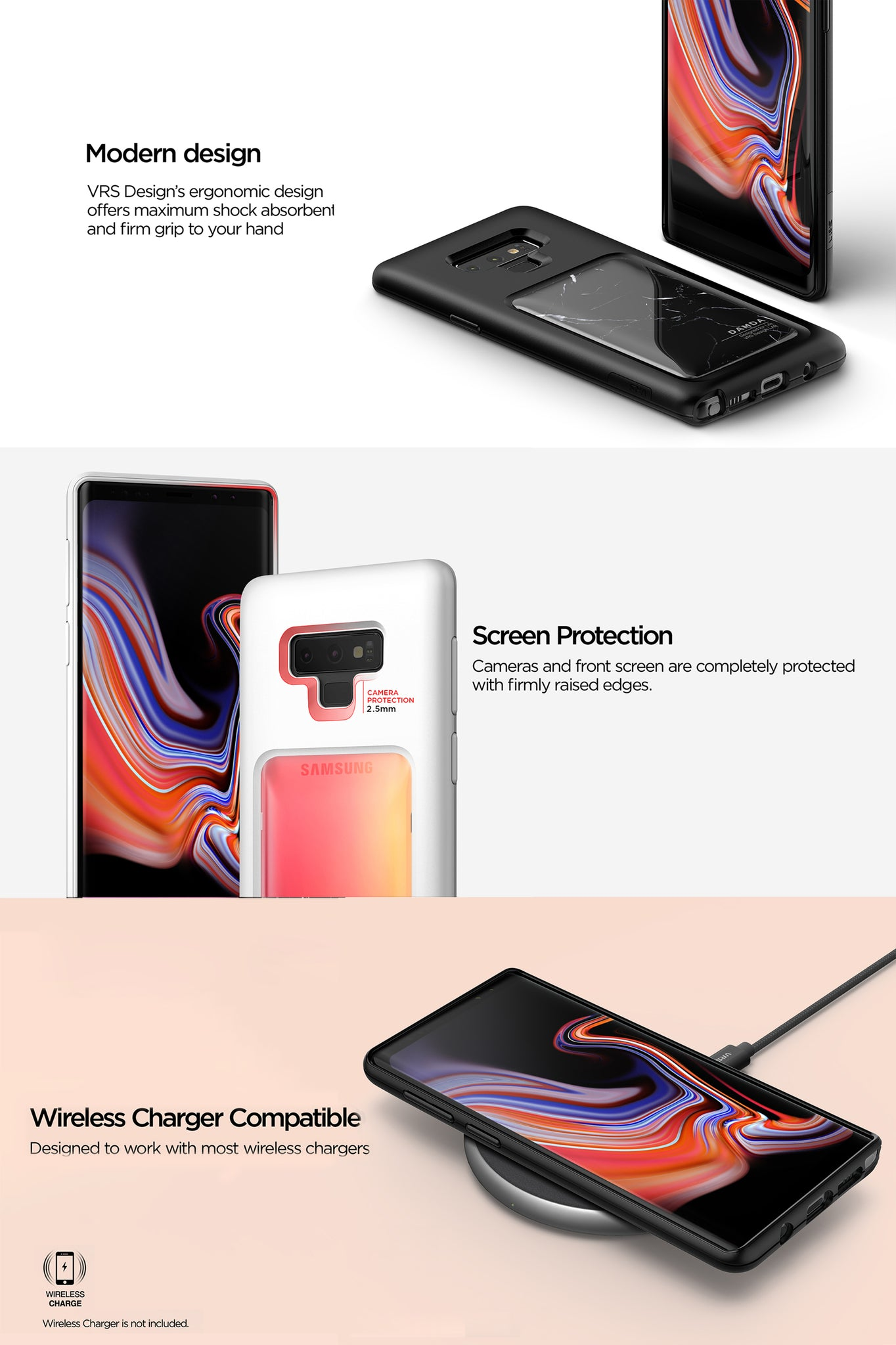 VRS Design | The Best Protection Case for Galaxy Note 9 - Damda High Pro Shield