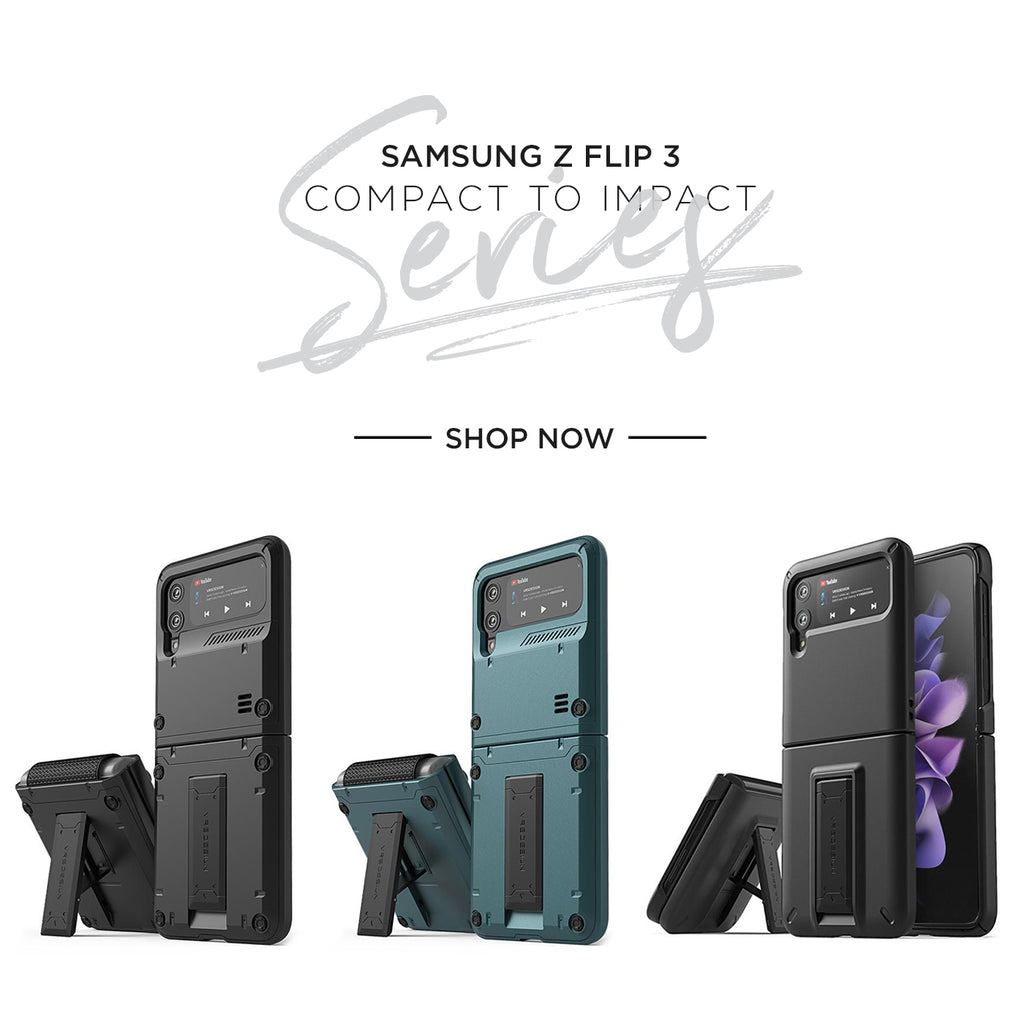 Samsung Galaxy Z Flip 3 rugged mobile case and accessories by VRS Design