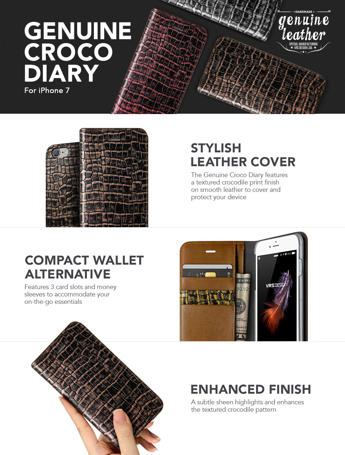 iPhone 7_Genuine Croco Diary