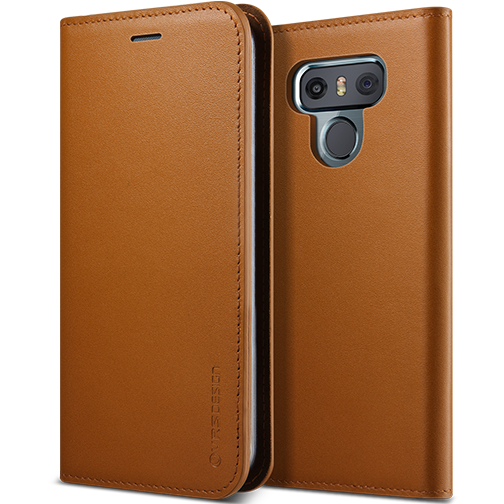 VRS Design LG G6 Case Collection - Genuine Leather Diary