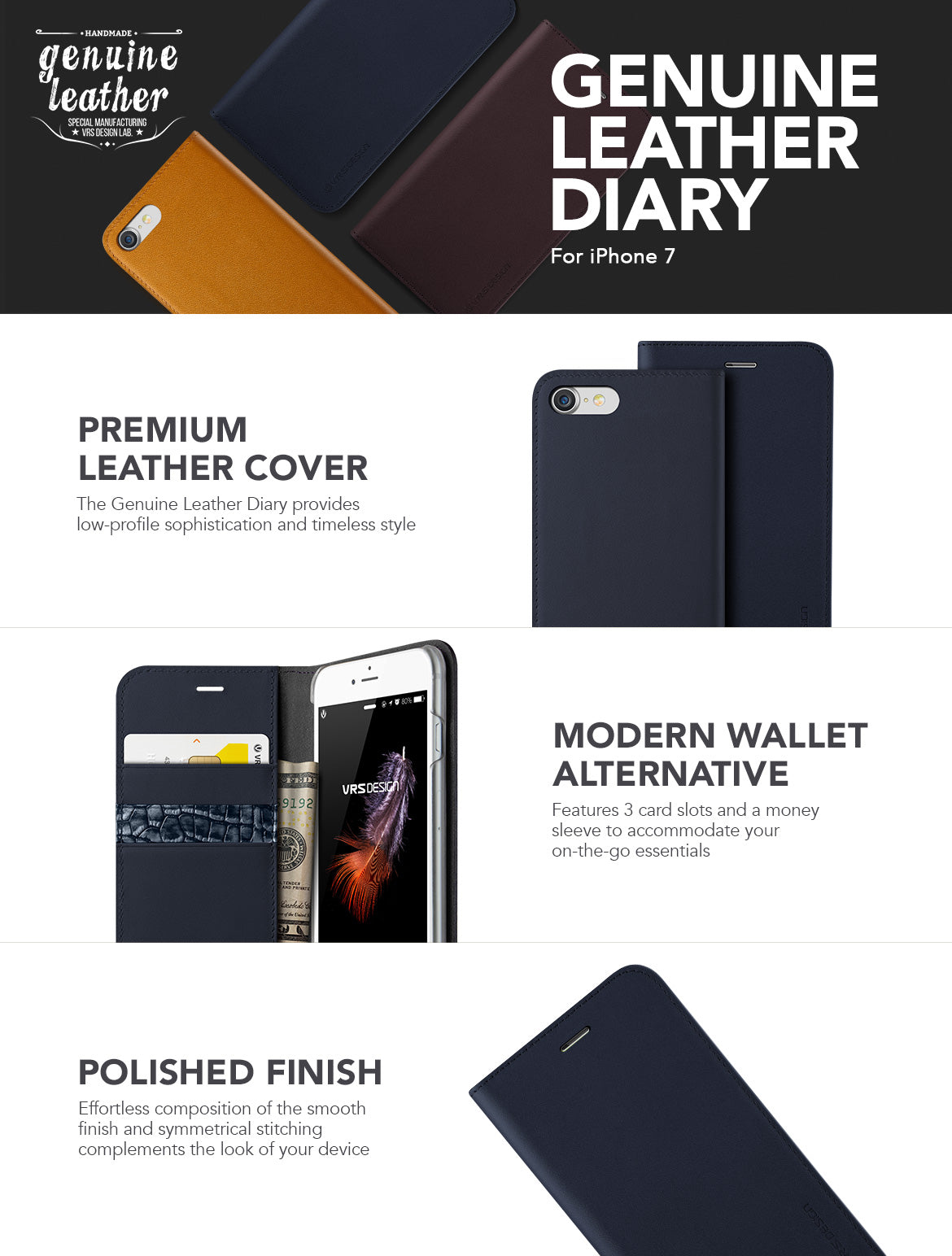 iPhone 7_Genuine Leather Diary