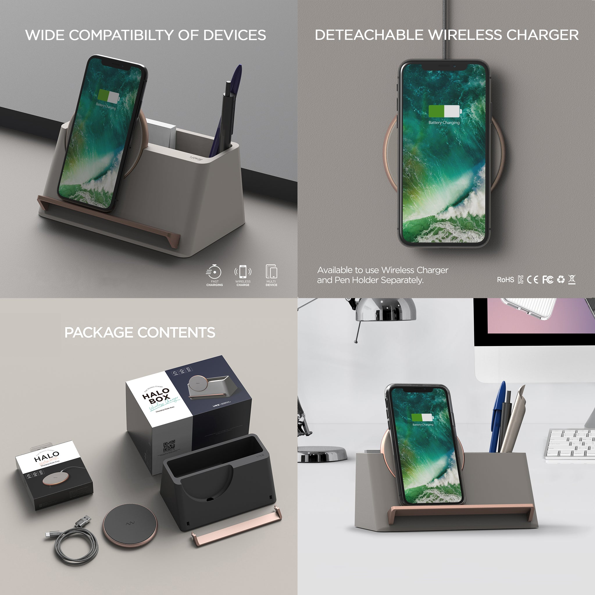 Accessories Halo Box Wireless Charger | VRS Design