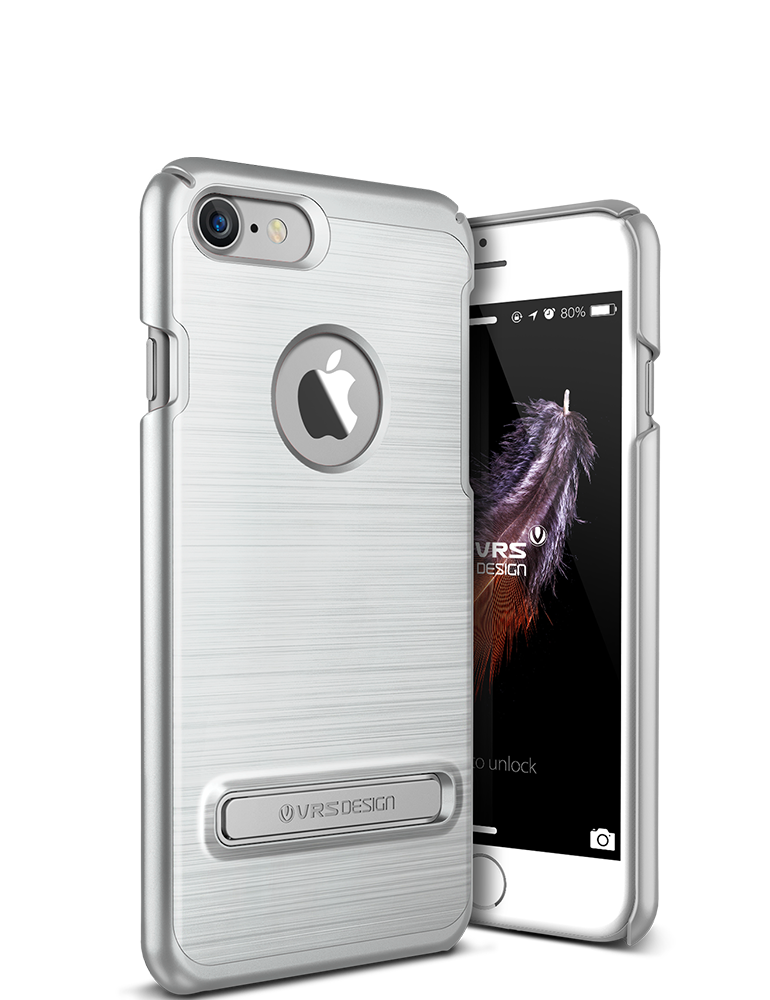 VRS Design iPhone 7 Case, Simpli Lite Satin Silver