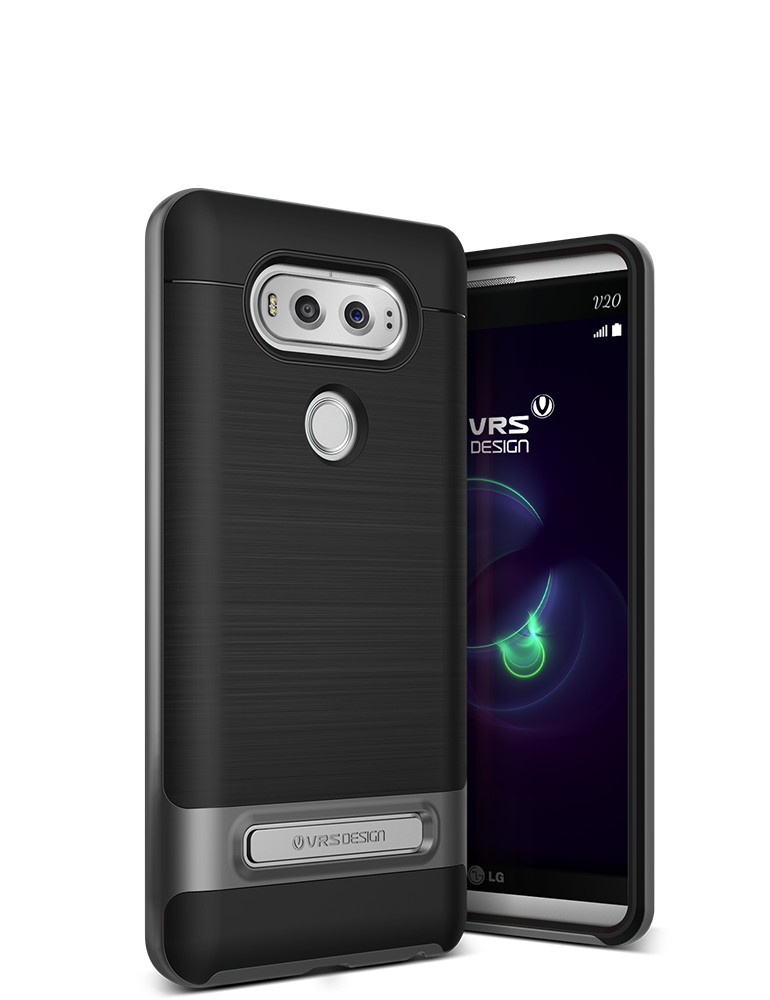 VRS Design Case, LG V20 High Pro Shield Steel Silver