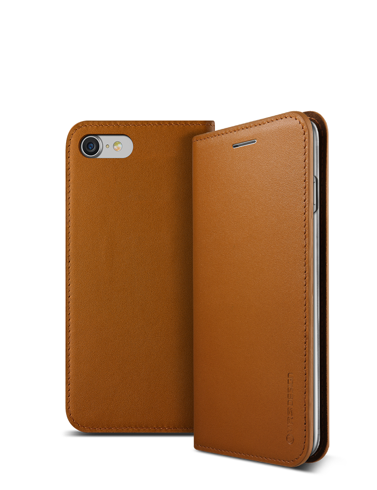 VRS Design iPhone 7 Case, Genuine Leather Diary