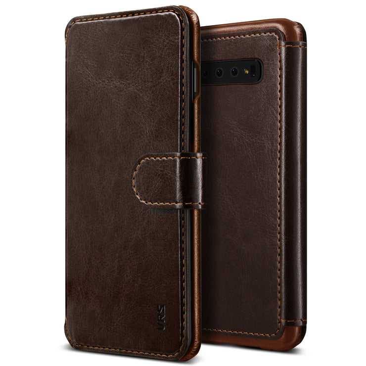 VRS Design | Layered Dandy Case for Galaxy S10 Plus - Coffee Brown