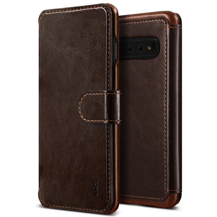 VRS Design | Layered Dandy Case for Galaxy S10 - Coffee Brown