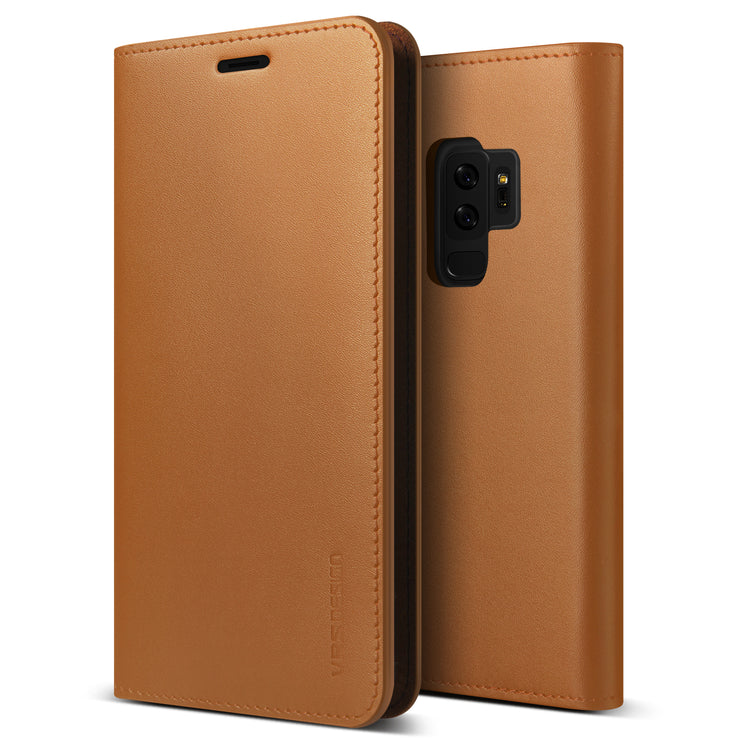 VRS Design | Galaxy S9 Plus Case Genuine Leather Series - Brown