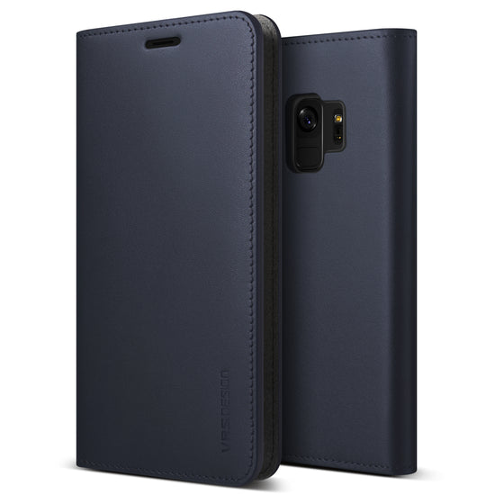 VRS Design | Galaxy S9 Case Genuine Leather Series - Navy