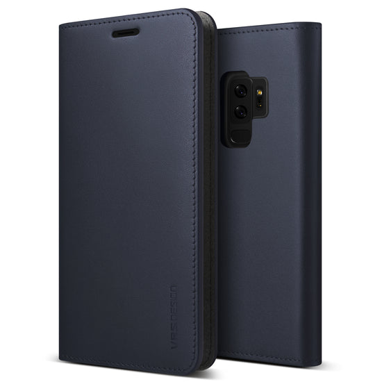 VRS Design | Galaxy S9 Plus Case Genuine Leather Series - Navy
