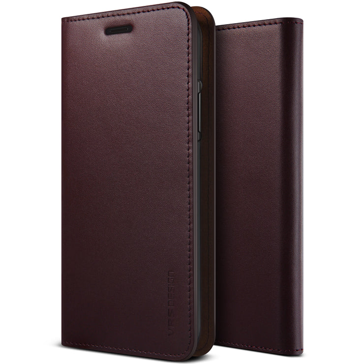 VRS Design | Genuine Leather Diary Series for iPhone Xs Max - Wine