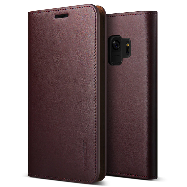 VRS Design | Galaxy S9 Case Genuine Leather Series - Wine