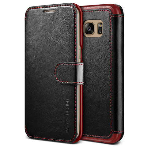 VRS Design [Layered Dandy Series] Samsung Galaxy S7 Edge Case - Black - Main