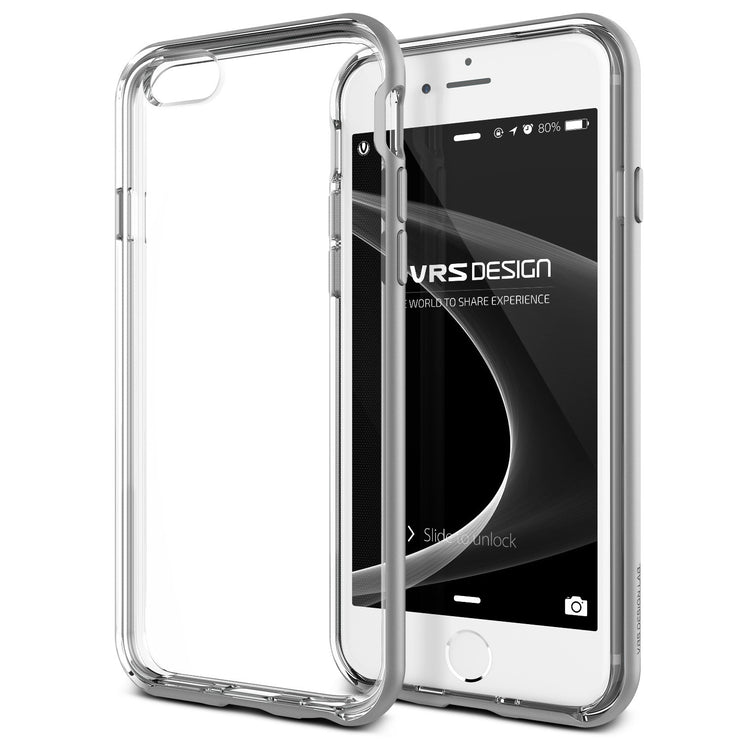 VRS Design [Crystal Bumper Series] iPhone 6/6s Plus Case - Satin Silver
