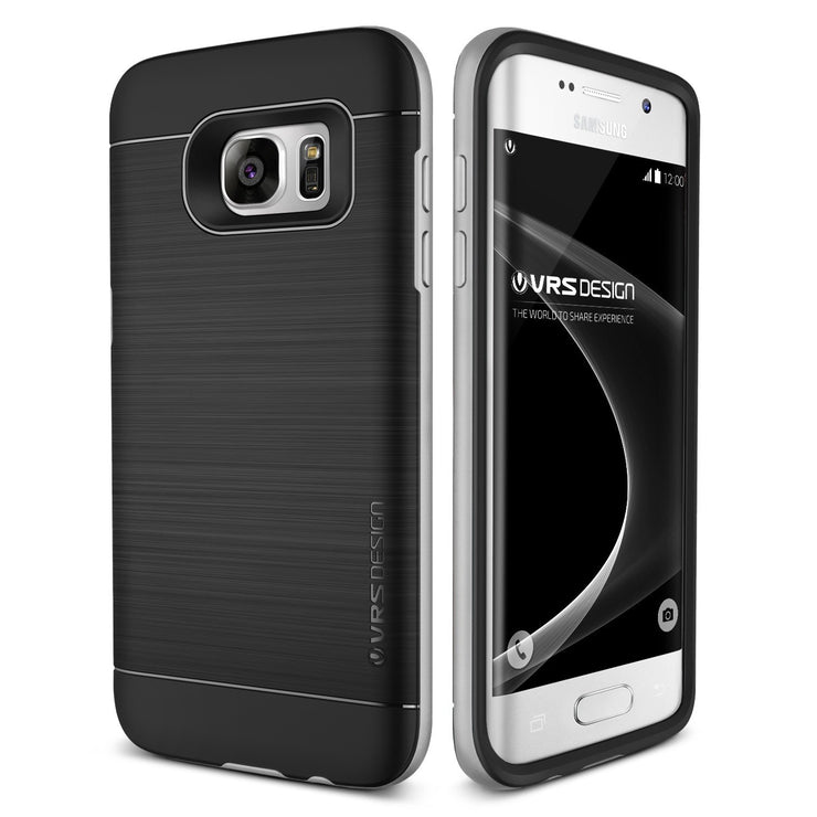 VRS Design [High Pro Shield Series] Samsung Galaxy S7 Edge Case - Satin Silver