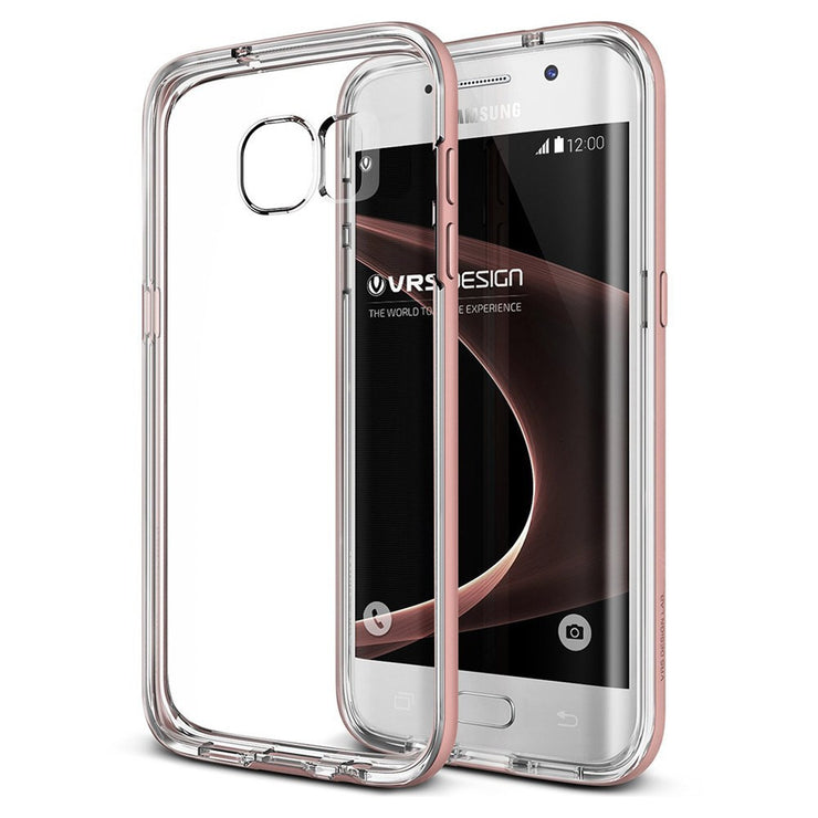 VRS Design [Crystal Bumper Series] Samsung Galaxy S7 Edge Case - Rose Gold
