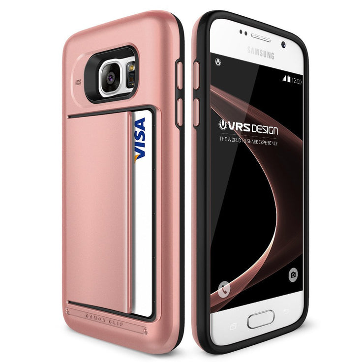 VRS Design [Damda Clip Series] Samsung Galaxy S7 Case - Rose Gold
