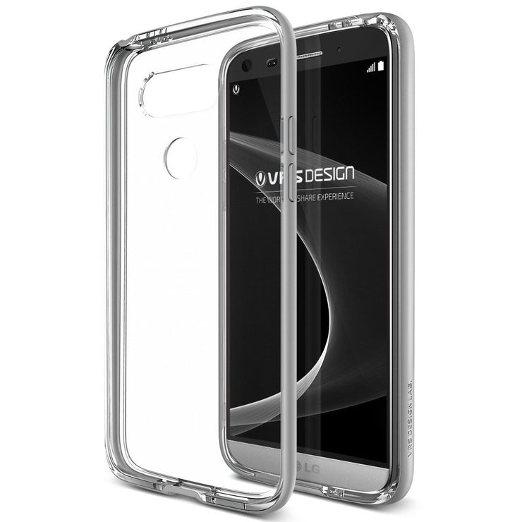 VRS Design [Crystal Bumper Series] LG G5 Case - Satin Silver