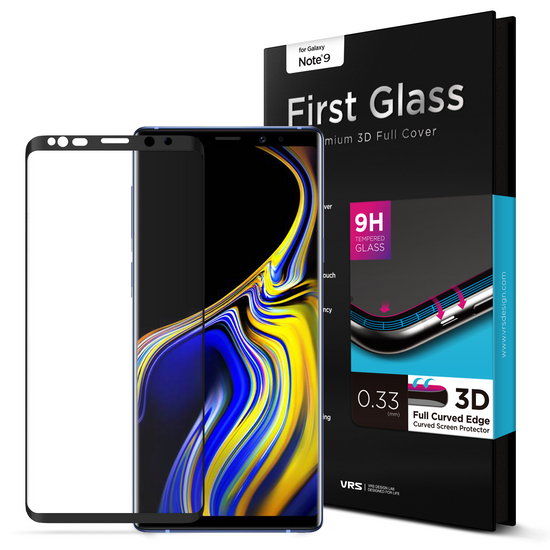 VRS Design | Galaxy Note 9 First Glass Screen Protector - Black