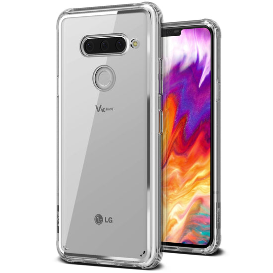 LG V40 ThinQ Case Crystal Chrome Clear Series