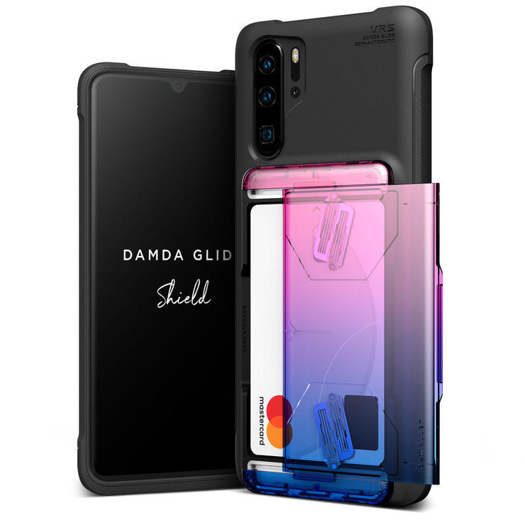 VRS Design | Huawei P30 Pro Case Damda Glide Shield Wallet Card Case - Pink Blue