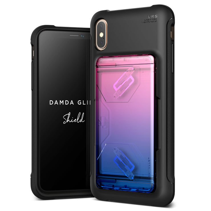 VRS Design | Apple iPhone Xs Max Case Damda Glide Shield series - Pink Blue