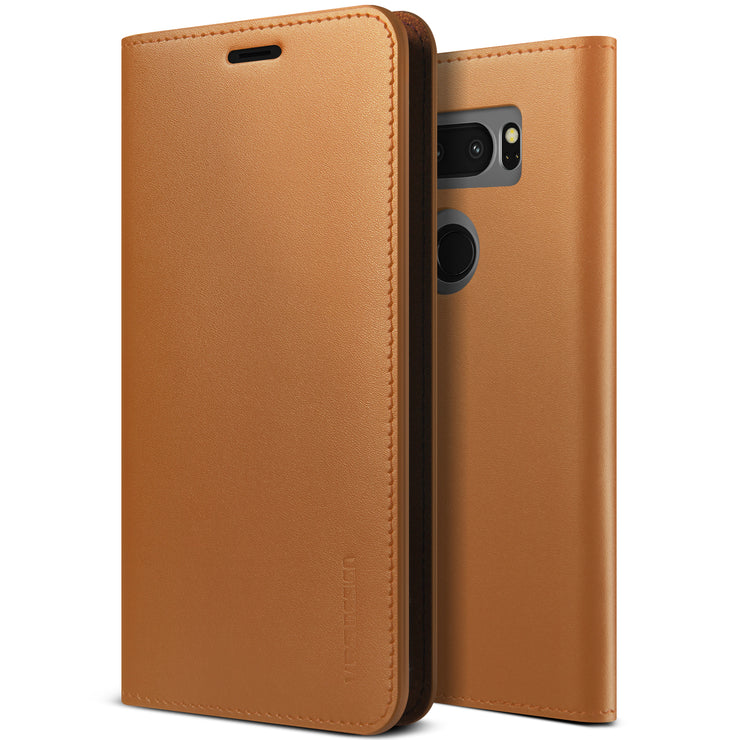 VRS Design | LG V30 Case Genuine Leather Diary - Brown