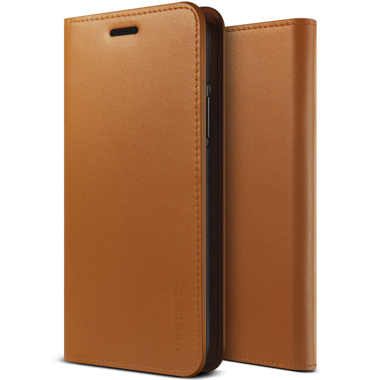 VRS Design | Genuine Leather Diary Series for iPhone XR - Brown