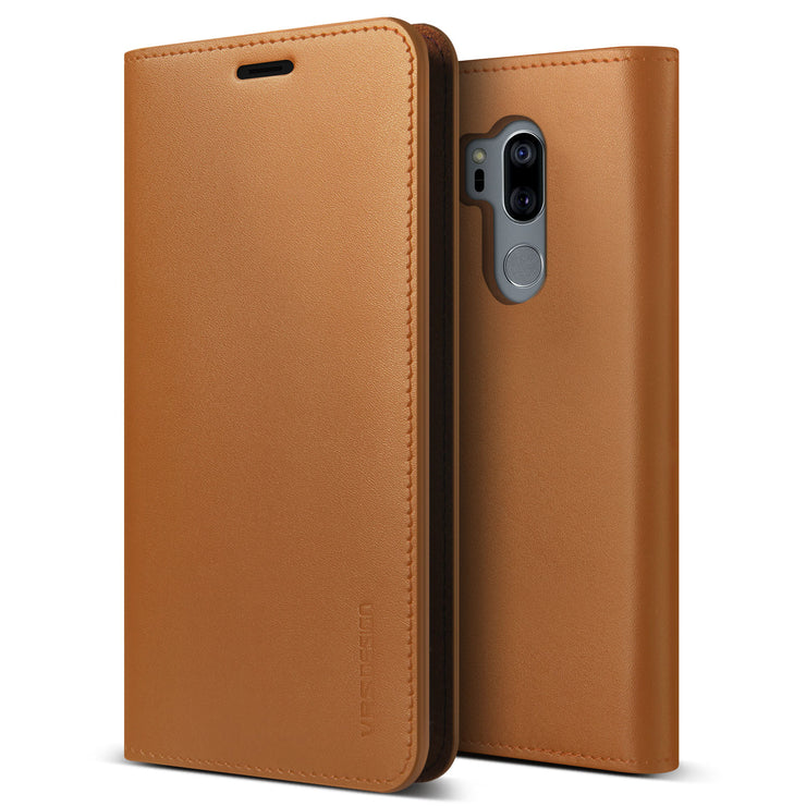 VRS Design | LG G7 Genuine Leather Diary Case - Brown