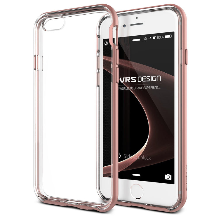 VRS Design [Crystal Bumper Series] Apple iPhone 6/6s Case - Rose Gold