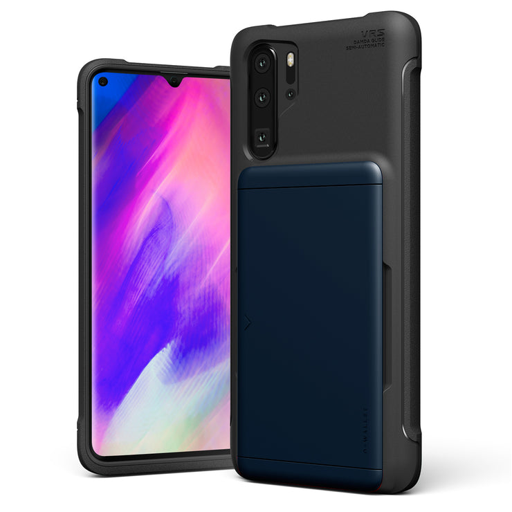 VRS Design | Huawei P30 Pro Case Damda Glide Shield Wallet Card Case - Deep Sea Blue