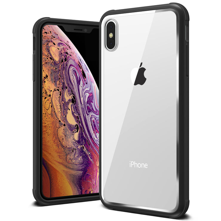 VRS Design | Crystal Chrome Series for iPhone Xs Case - Black