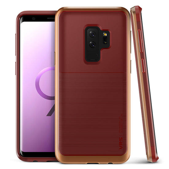 Galaxy S9 Plus Best Protection Case | VRS Design High Pro Shield - Red